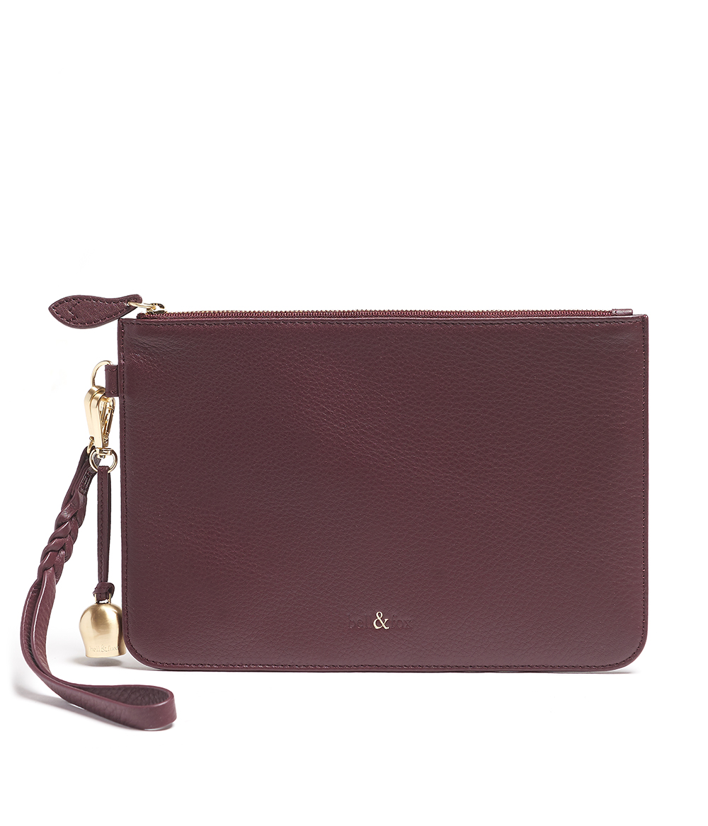 Bell & Fox - Wristlet Bag Merlot - £85 www.bellandfox.com
